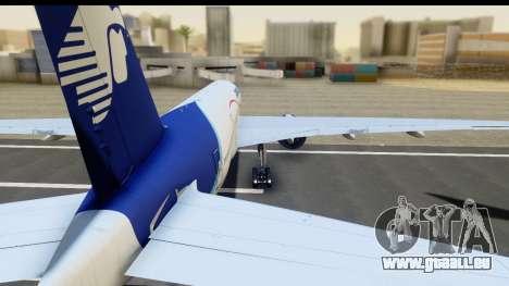 Boeing 777-200ER AeroMexico für GTA San Andreas zurück linke Ansicht