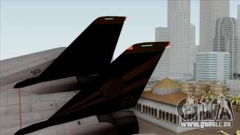 Grumman F-14B VF-193 Lions pour GTA San Andreas sur la vue arrière gauche
