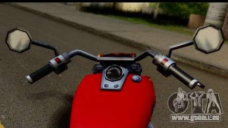 Honda Shadow 750 pour GTA San Andreas sur la vue arrière gauche