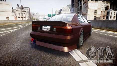Maibatsu Vincent 16V Tuned pour GTA 4 Vue arrière de la gauche