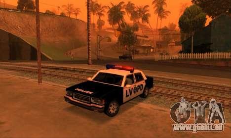 Beta LVPD Police pour GTA San Andreas sur la vue arrière gauche