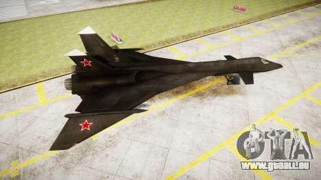 MiG-31 Fire Fox für GTA 4 linke Ansicht