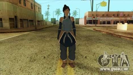 Korra Skin from The Legend Of Korra pour GTA San Andreas