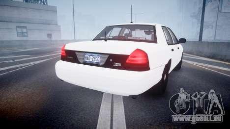 Ford Crown Victoria LCPD Unmarked [ELS] pour GTA 4 Vue arrière de la gauche