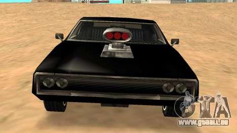 Sabre Charger pour GTA San Andreas vue de dessous