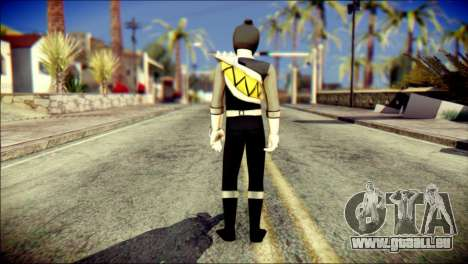 Power Rangers Kyoryu Black Skin für GTA San Andreas zweiten Screenshot