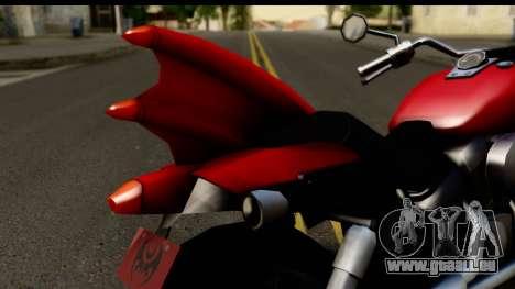 Honda Shadow 750 pour GTA San Andreas vue arrière