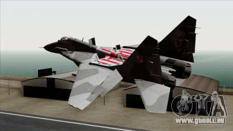 MIG-29A Polish Air Force Kosynierzy für GTA San Andreas linke Ansicht