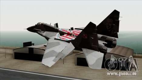 MIG-29A Polish Air Force Kosynierzy für GTA San Andreas linke Ansicht