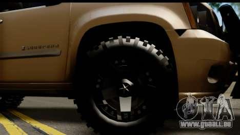 Chevrolet Suburban 4x4 pour GTA San Andreas vue arrière