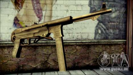 MP40 from Call of Duty World at War pour GTA San Andreas