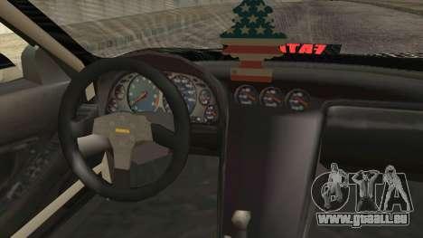 Acura NSX Miku Ghoul Itasha pour GTA San Andreas vue de droite