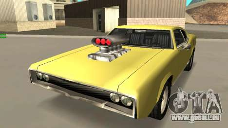 Sabre Charger pour GTA San Andreas vue intérieure
