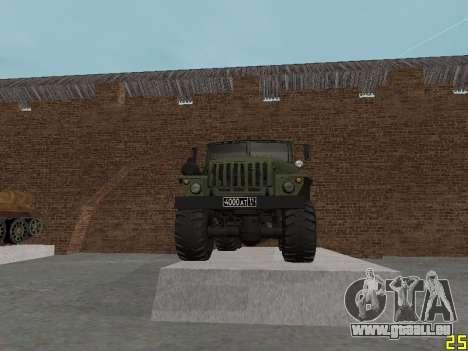 Ural 375 Grad MLRS für GTA San Andreas Seitenansicht