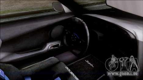 Toyota Supra 1999 Tina Sprout Itasha für GTA San Andreas rechten Ansicht