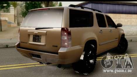 Chevrolet Suburban 4x4 pour GTA San Andreas laissé vue
