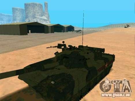 T-80U pour GTA San Andreas vue arrière