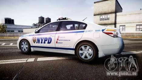 Nissan Altima Hybrid NYPD pour GTA 4 est une gauche