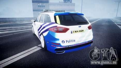 Ford Fusion Estate 2014 Belgian Police [ELS] pour GTA 4 Vue arrière de la gauche