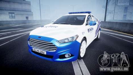 Ford Fusion 2014 Belgian Police [ELS] pour GTA 4