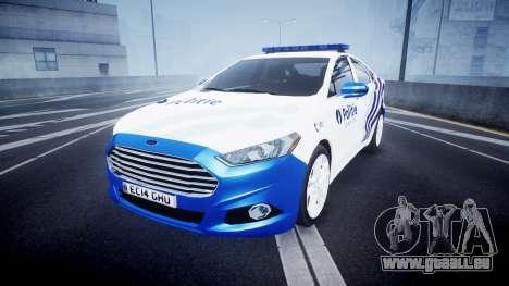 Ford Fusion 2014 Belgian Police [ELS] für GTA 4