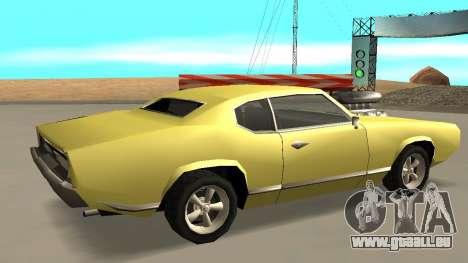 Sabre Charger pour GTA San Andreas vue de droite