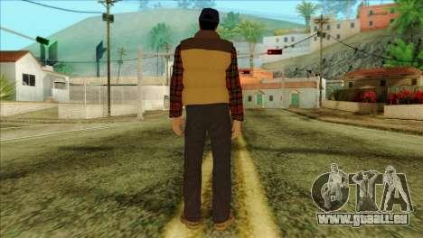 Big Rig Alex Shepherd Skin without Flashlight für GTA San Andreas zweiten Screenshot