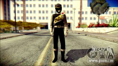 Power Rangers Kyoryu Black Skin für GTA San Andreas
