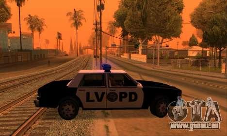 Beta LVPD Police pour GTA San Andreas vue de droite