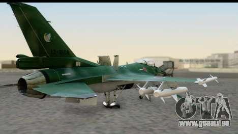 F-2A Zero Dark Green pour GTA San Andreas laissé vue