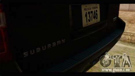 Chevrolet Suburban 2010 FBI pour GTA San Andreas vue arrière