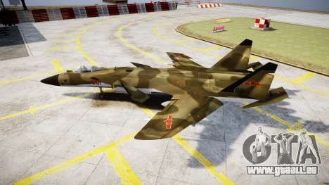 Su-47 Berkut Wald für GTA 4 linke Ansicht