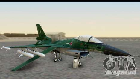 F-2A Zero Dark Green für GTA San Andreas