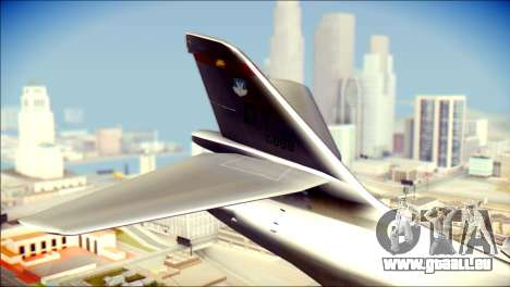 B-1B Lancer Camo Texture pour GTA San Andreas sur la vue arrière gauche