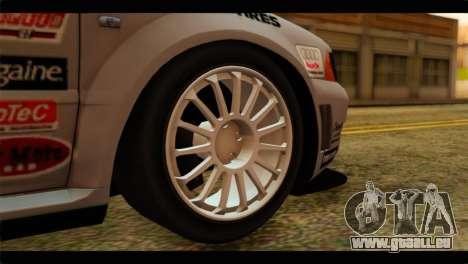 Audi S4 B5 2002 Champion Racing pour GTA San Andreas sur la vue arrière gauche