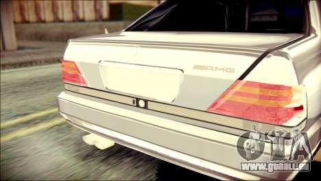Mercedes-Benz W140 pour GTA San Andreas vue arrière