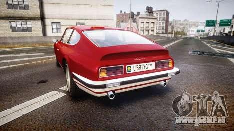 GTA V Lampadati Pigalle pour GTA 4 Vue arrière de la gauche
