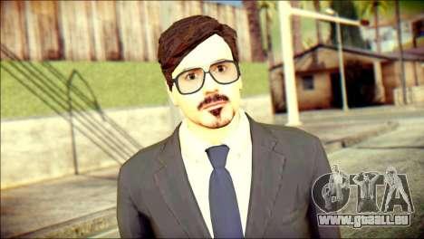 Tony Stark Skin pour GTA San Andreas troisième écran