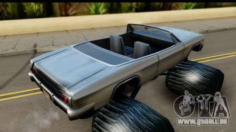 Monster Blade pour GTA San Andreas sur la vue arrière gauche