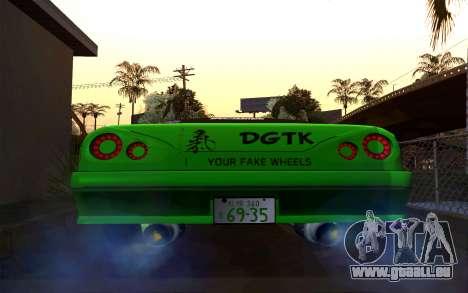 DGTK Elegy v1 pour GTA San Andreas sur la vue arrière gauche