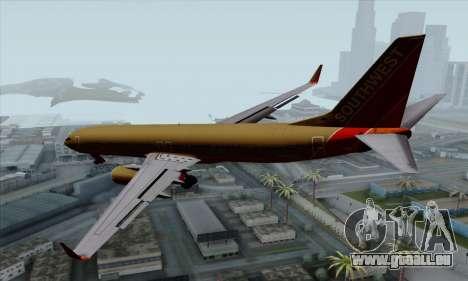Boeing 737-800 Southwest Gold für GTA San Andreas linke Ansicht