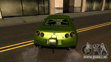 Nissan GT-R Dragster pour GTA San Andreas vue de côté