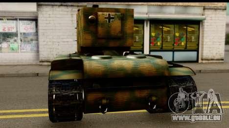 KV-2 German Captured pour GTA San Andreas sur la vue arrière gauche