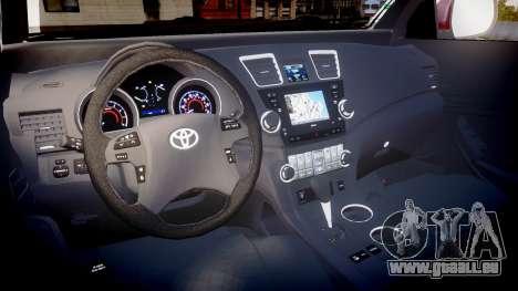 Toyota Hilux SW4 2015 pour GTA 4 Vue arrière