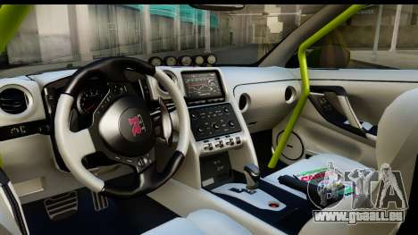 Nissan GT-R Dragster pour GTA San Andreas vue intérieure