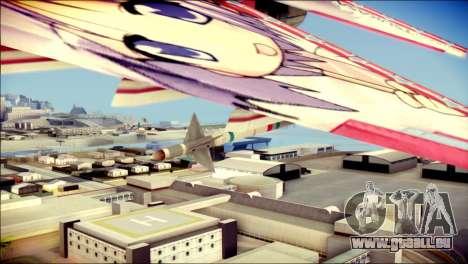 MIG-29 Shrine Maiden Hiragi pour GTA San Andreas vue de droite