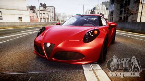 Alfa Romeo 4C 2014 pour GTA 4