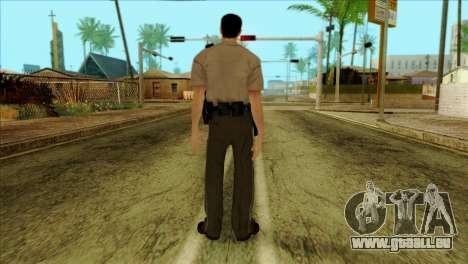 Depurty Alex Shepherd Skin without Flashlight für GTA San Andreas zweiten Screenshot