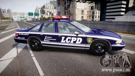 Chevrolet Caprice 1993 LCPD WoH Auxiliary [ELS] pour GTA 4 est une gauche