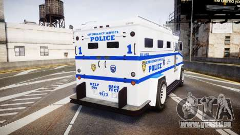 GTA V Brute Police Riot [ELS] skin 4 für GTA 4 hinten links Ansicht